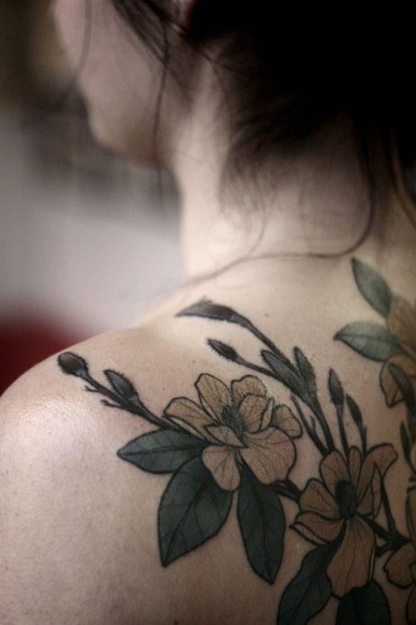 Tattoo Ideen Rosen Motive Schulter Arm Tᗩttoo Tattoo Motive