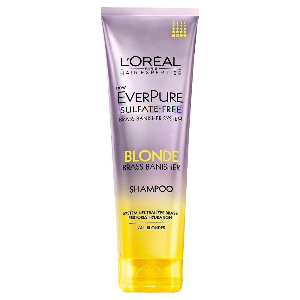 L Oreal Paris Everpure Sulfate Free Purple Shampoo For Colored Hair 6 8oz Purple Shampoo Purple Conditioner Sulfate Free Purple Shampoo