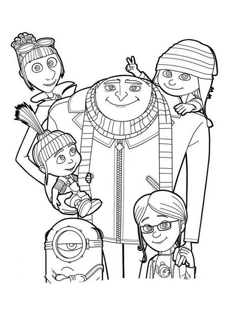 Despicable Me 3 Coloring Pages Picture. Despicable Me 3 Is The Third Film  From The Despicab… Minion Coloring Pages, Super Coloring Pages, Toy Story Coloring  Pages