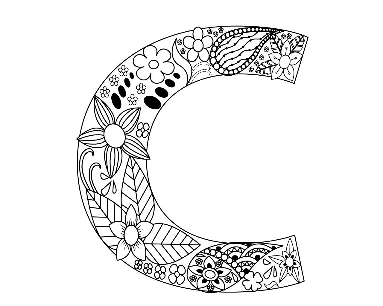 Letter C Coloring Pages For Adults Coloring Letters Letter C Coloring Pages Coloring Pages