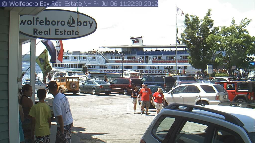 Welcome to Wolfeboro Bay , NH  Check out the old Woody!