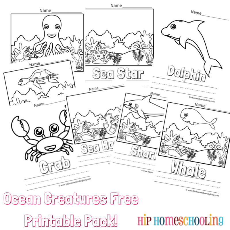 Ocean Coloring Pages Free Printable and Link Up