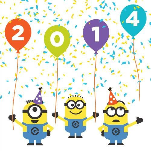 new year minions happy 2014 despicableme