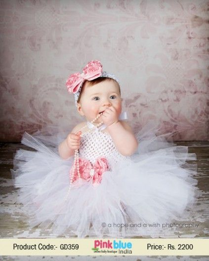 63a394d43cf3 Cute 1st Birthday Outfit for Baby Girls - White Tutu Party Dress, Princess  Flower Dresses, Infant Girls Short Tutu Dress, Kids New Arrivals, Baby  Clothing, ...