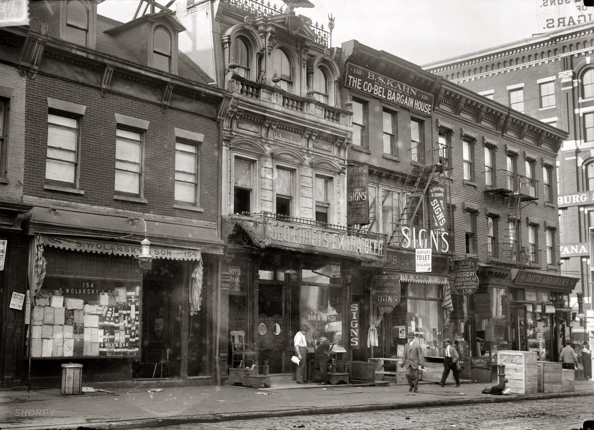 October 15 1912 White House Hotel The Building At 156 Canal