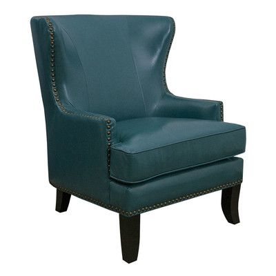Remarkable Grafton Home Gina Peacock Bonded Leather Winged Chair Unemploymentrelief Wooden Chair Designs For Living Room Unemploymentrelieforg