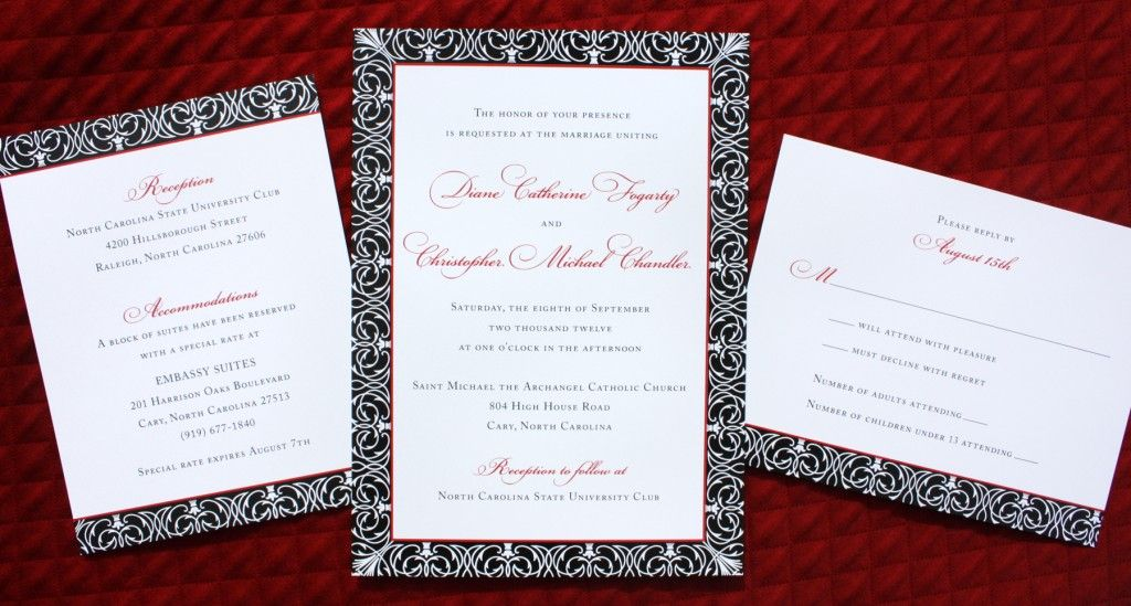Red Wedding Invitations – Red and White Wedding Invitations