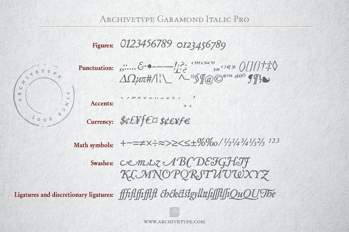 Archive Garamond Italic Pro With Images Photoshop For