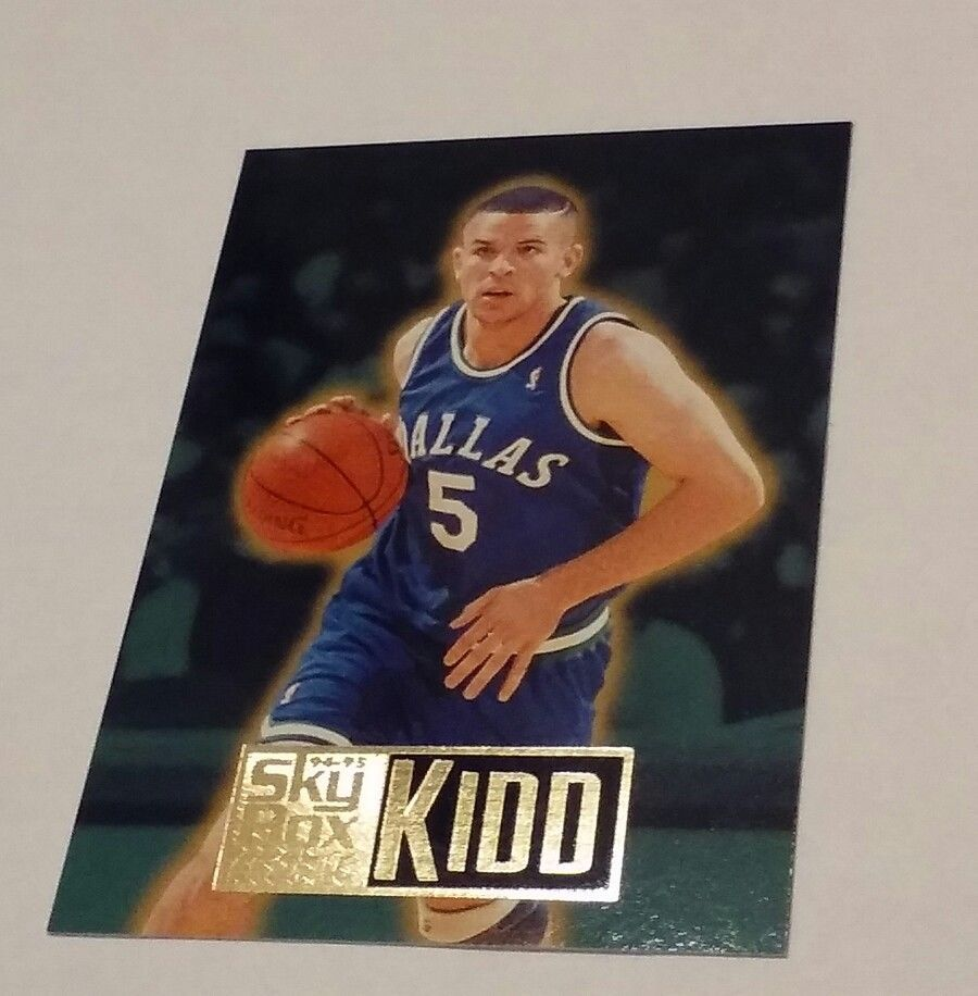 1995 Skybox Jason Kidd Rookie Card 221 Dallas Mavericks With Free