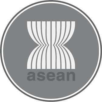 Logo Asean Balutan Warna Hitam Putih Bw Suka Sosial Gambar