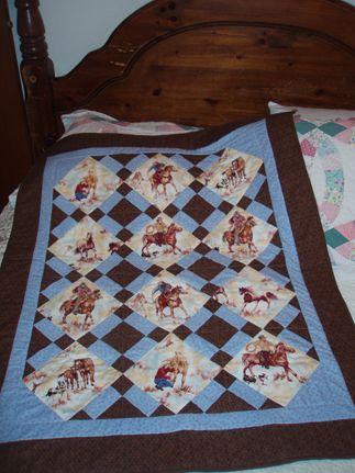 FP News - Bluebonnet Cowboy Baby Quilt | Quilting | Pinterest ... : cowboy baby quilt - Adamdwight.com