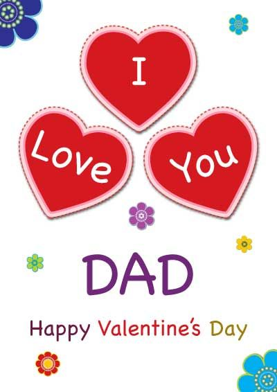 I Love You Dad Valentine S Day Card Happy Valentines Day Dad Printable Valentines Cards Happy Valentines Day Mom