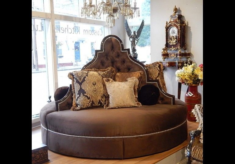 Unique High Style Round Sofa Foyer Or Lobby Seating 80 Is In Stock And On Display The Showroom