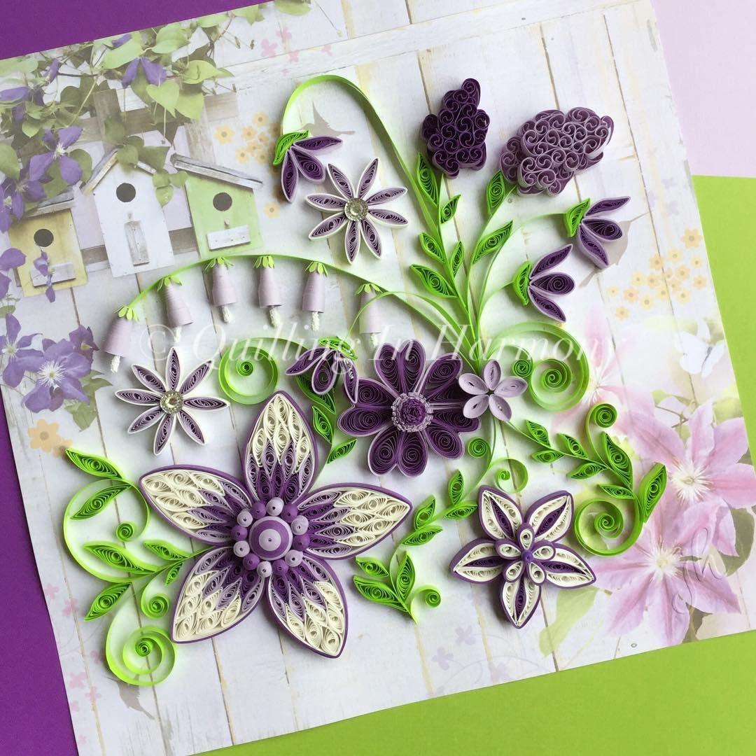 Маленькие открытки из квиллинга, для открытки фотошопе
