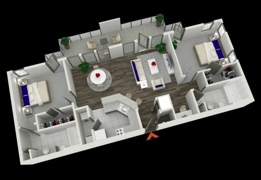 Pin By Deanna Padilla On 2 Bedroom Apartment Floor Plan 2 Bedroom Apartment Floor Plan Apartment Plans Two Bedroom Apartments