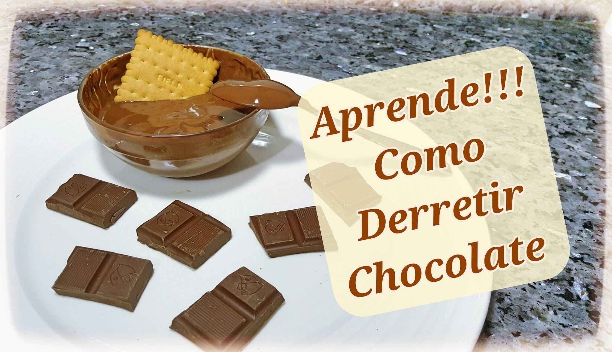 Como Derretir Cobertura De Chocolate Bano Maria Y Horno