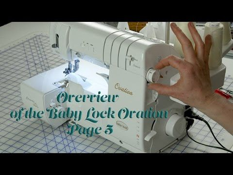Baby Lock Ovation Serger Manual Overview Of The Ovation Page 40 J Mesmerizing Ovation Sewing Machine
