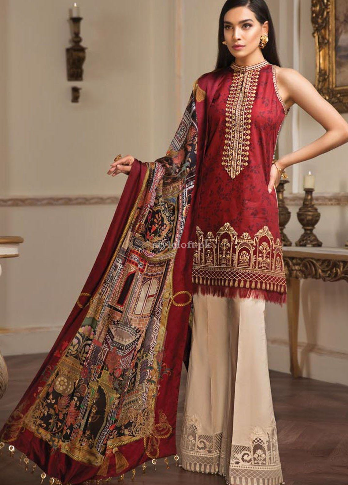 36ff0ff4a6 Anaya by Kiran Chaudhry Embroidered Lawn Unstitched 3 Piece Suit AKC19L 08  Sirena - Spring / Summer Collection #womensclothing #pakistanicelebrities  ...
