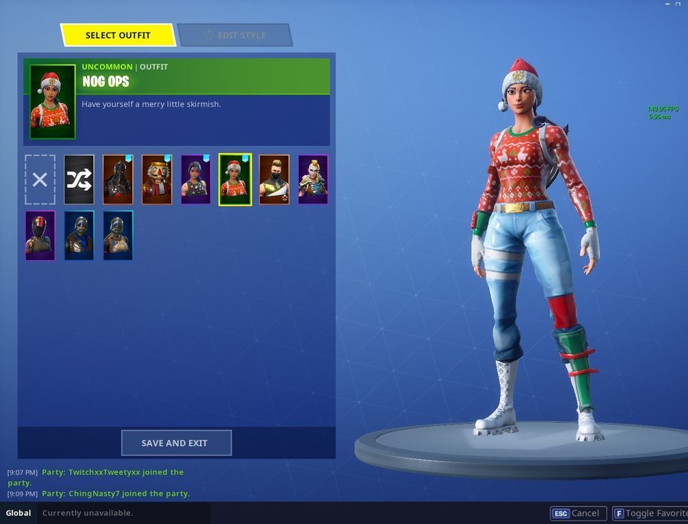 Very Rare Fortnite Account Nog Ops Black Knight And Candy Axe Pc