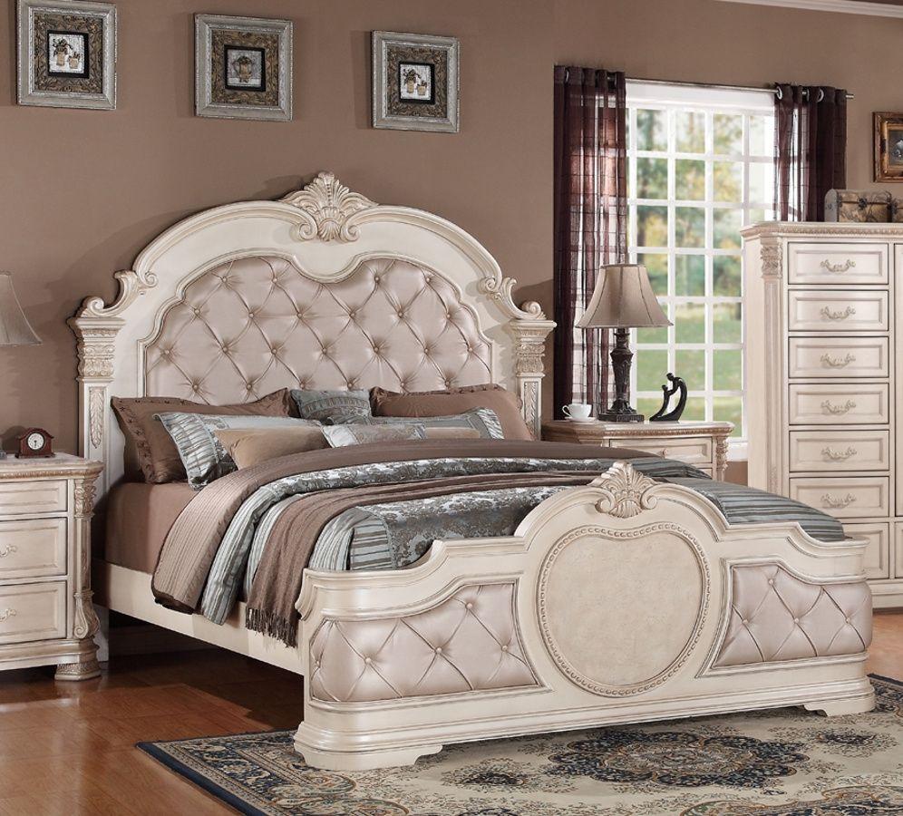 Infinity Antique Queen Bed Upholstered bedroom set