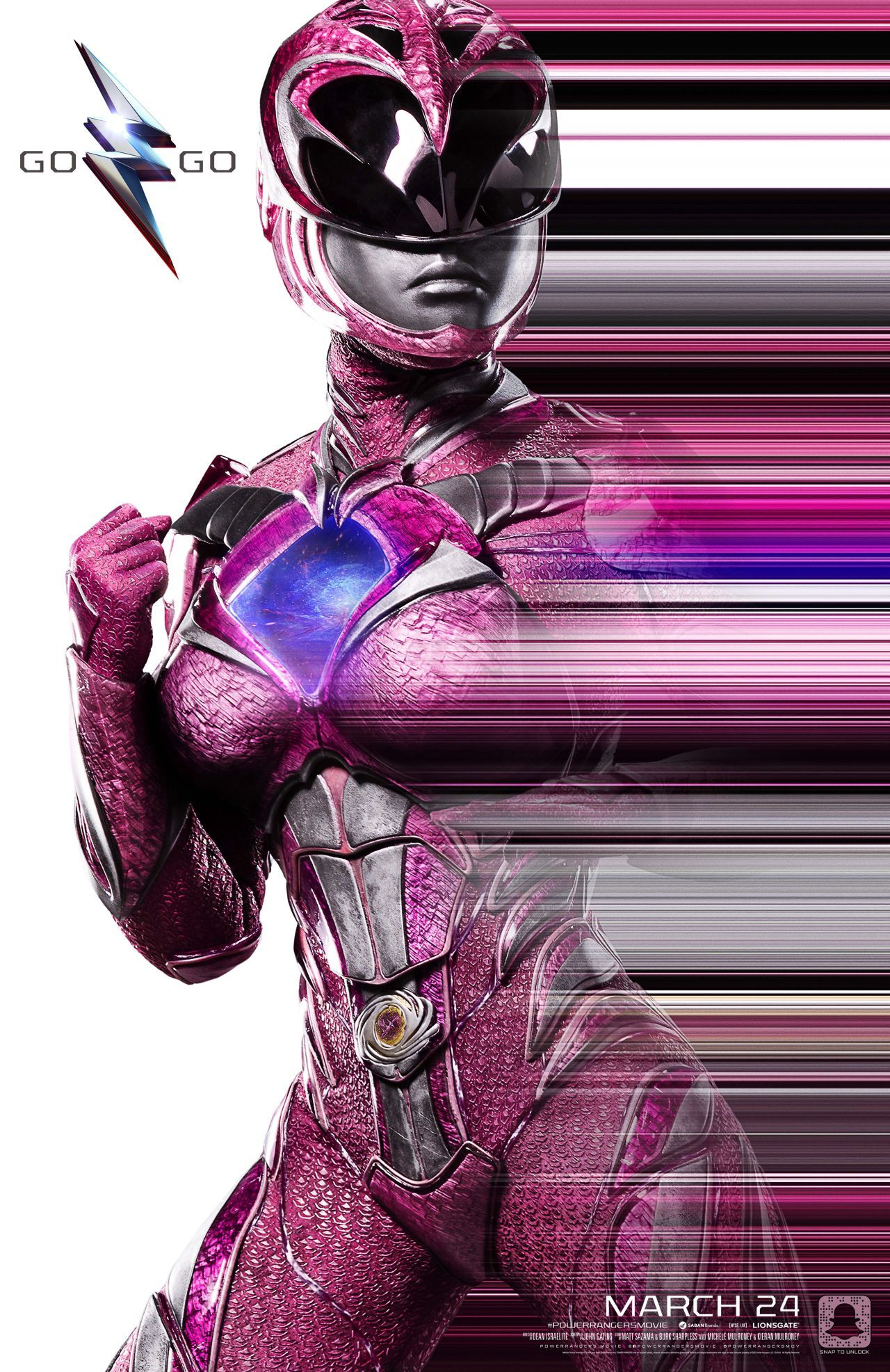 Power Rangers (2016) NYCC Poster - Pink Ranger