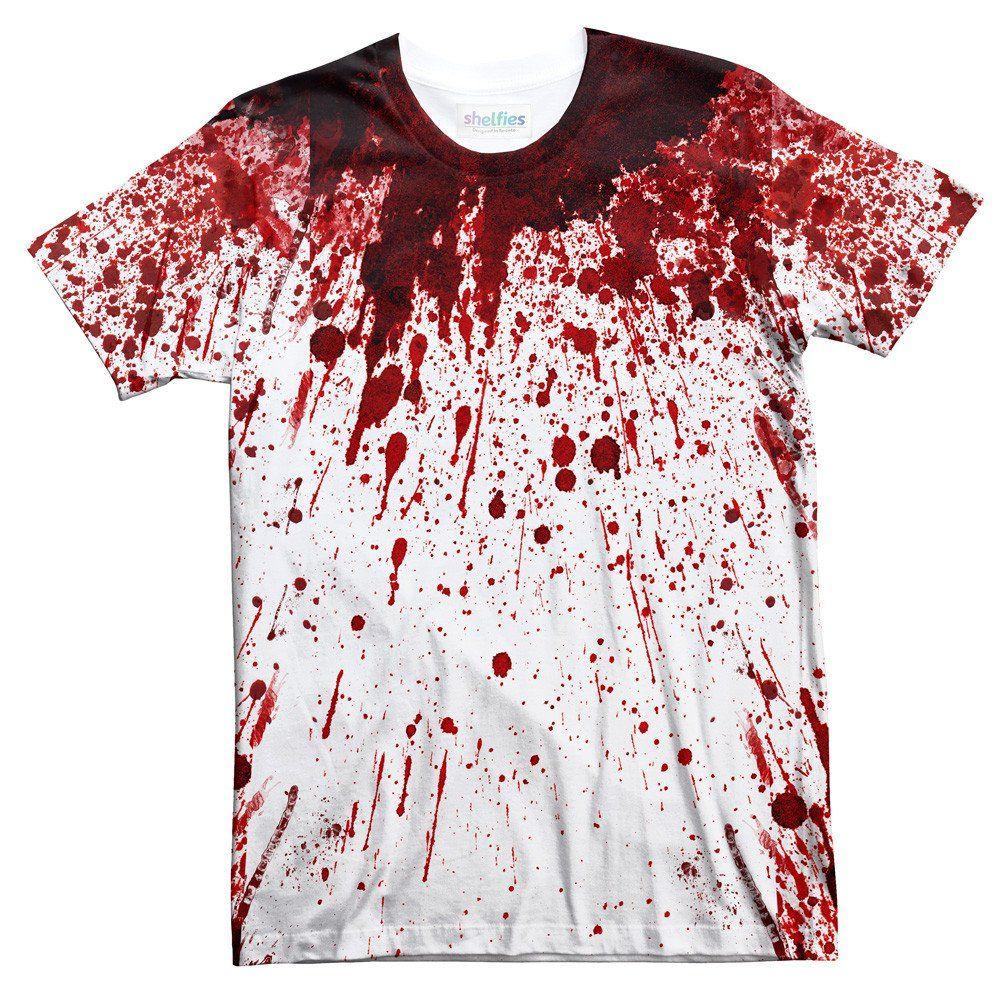 5e1d890a Blood Splatter T-Shirt - Shelfies | All-Over-Print Everywhere - Designed to  Make…