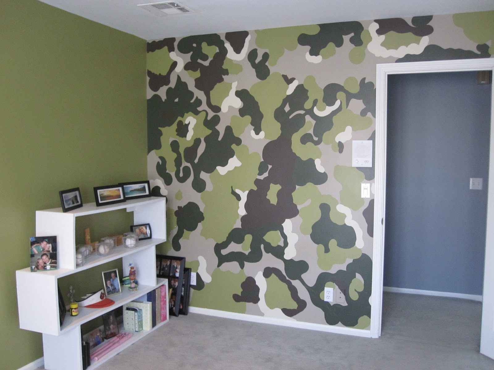 Camo Wall Paint The Colors Didn T Really Go With Rest Of House So We