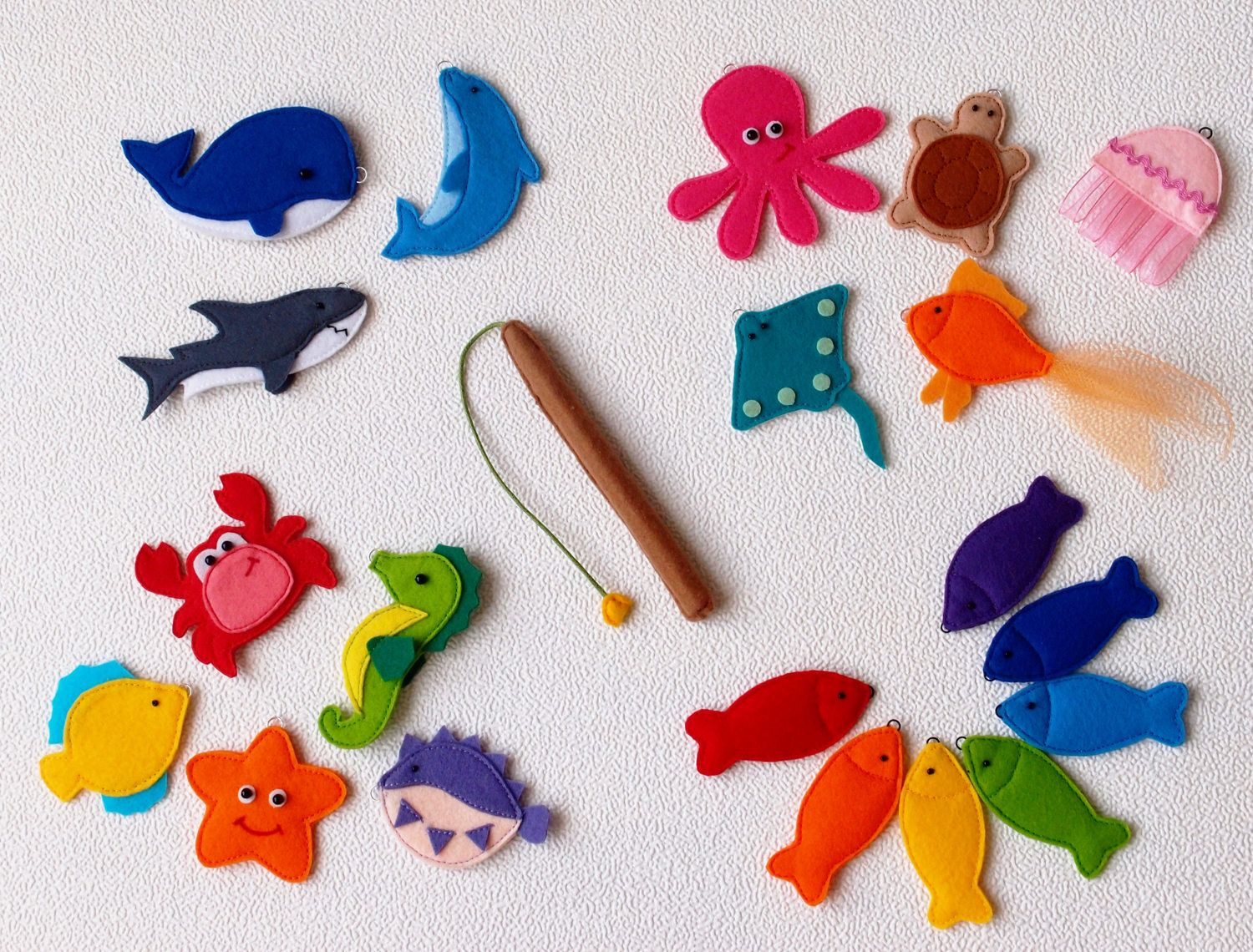 Magnetic Fishing Game Felt Sea Animals Learning Toy Sea