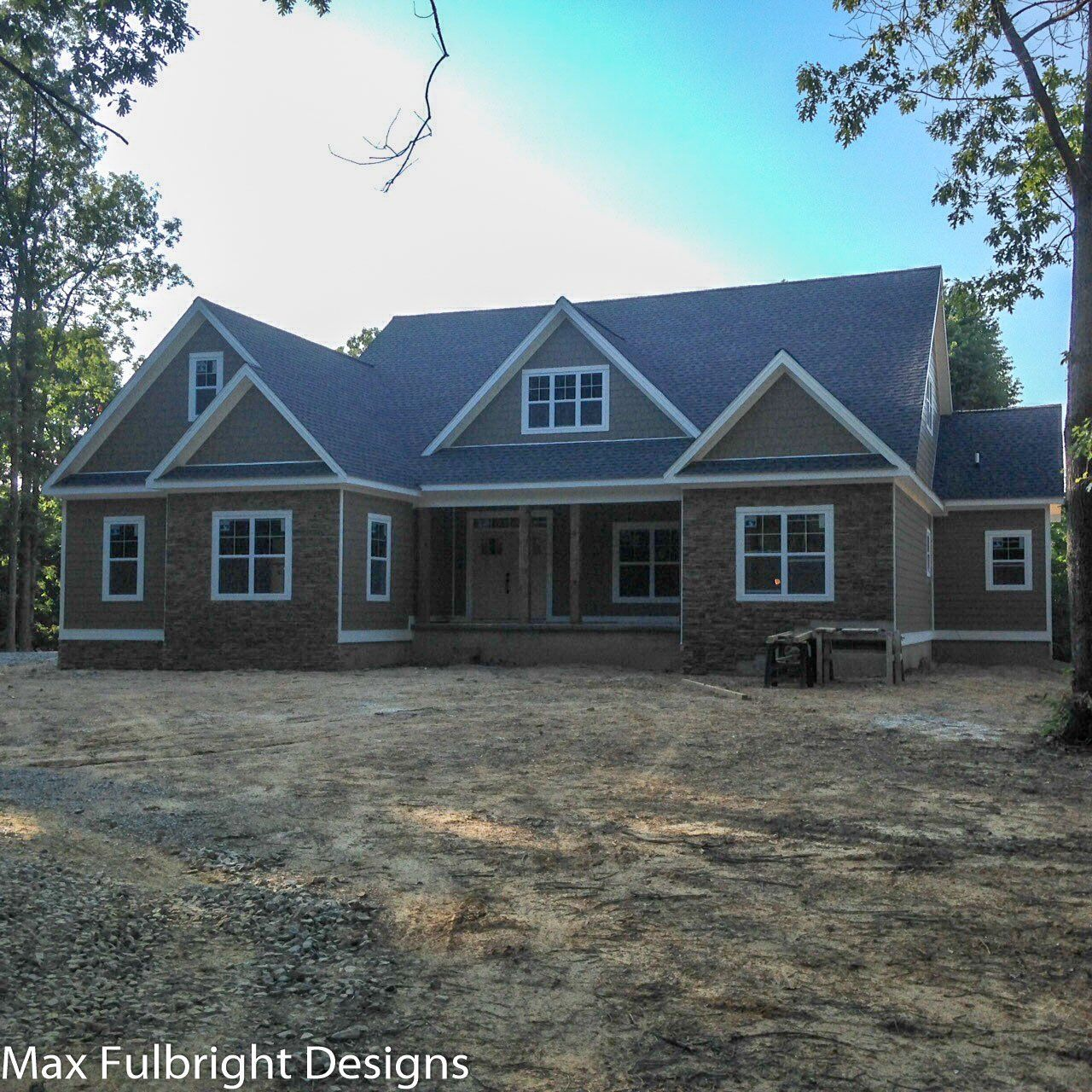 Craftsman Style Lake House Plan With Walkout Basement In