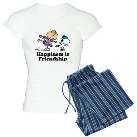 CafePress Snoopy Backpack Pajama Set