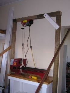 Gantry Crane Homemade Gantry Crane Constructed From Wood And