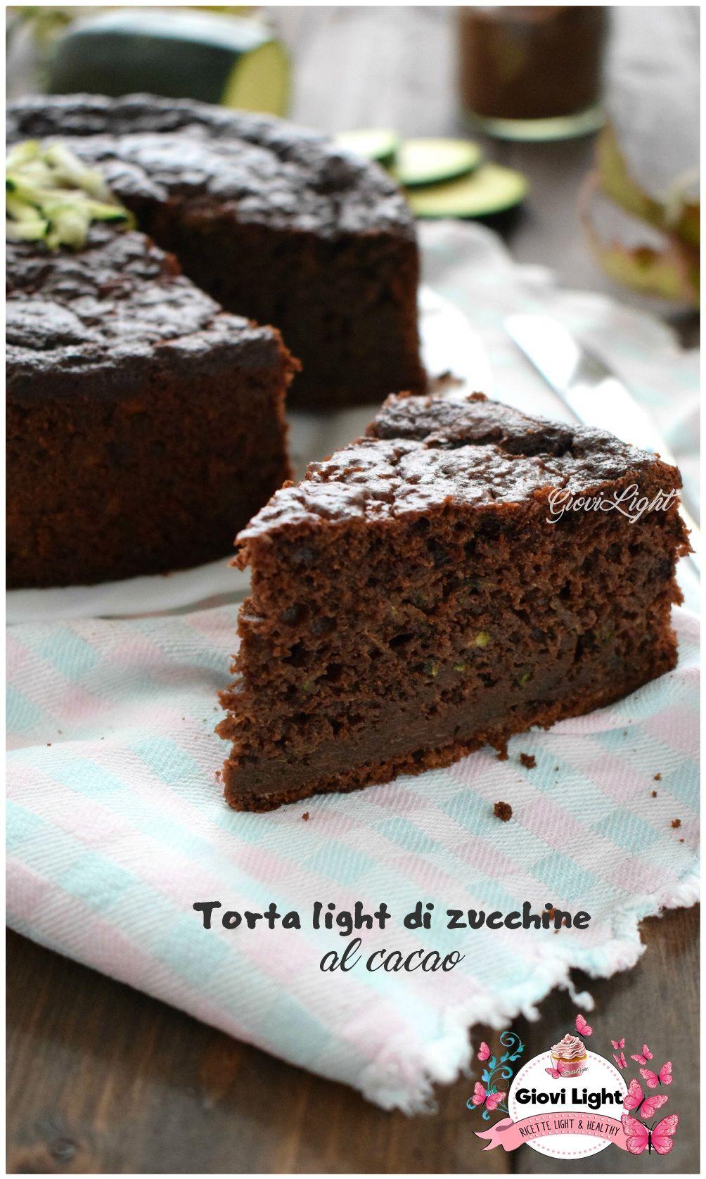 Torta Light Bimby.Torta Light Di Zucchine Al Cacao Con Il Bimby E Senza