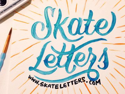 Lettering/Typography / Skate Letters Launched!