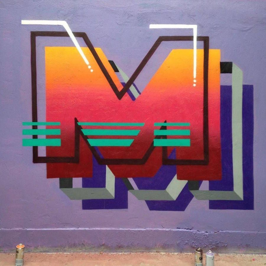 Colorful 3D Typography Mural #3dtypography Colorful 3D Typography Mural – Fubiz Media #3dtypography