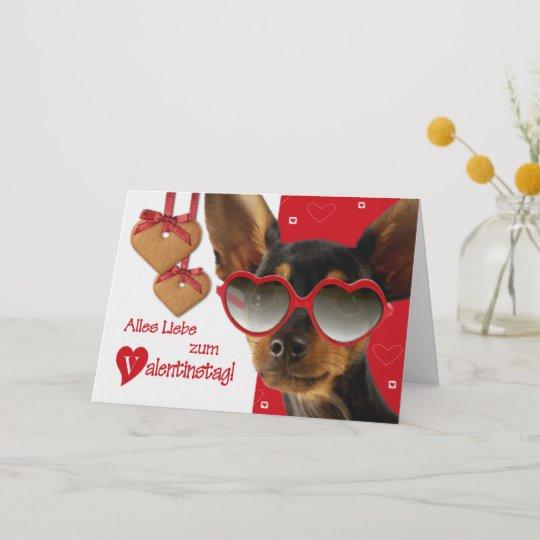 Valentinstag. Funny Dog German Greeting Cards   Zazzle.com
