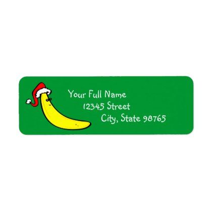 Template  Funny Banana Custom Return Address Label  Template