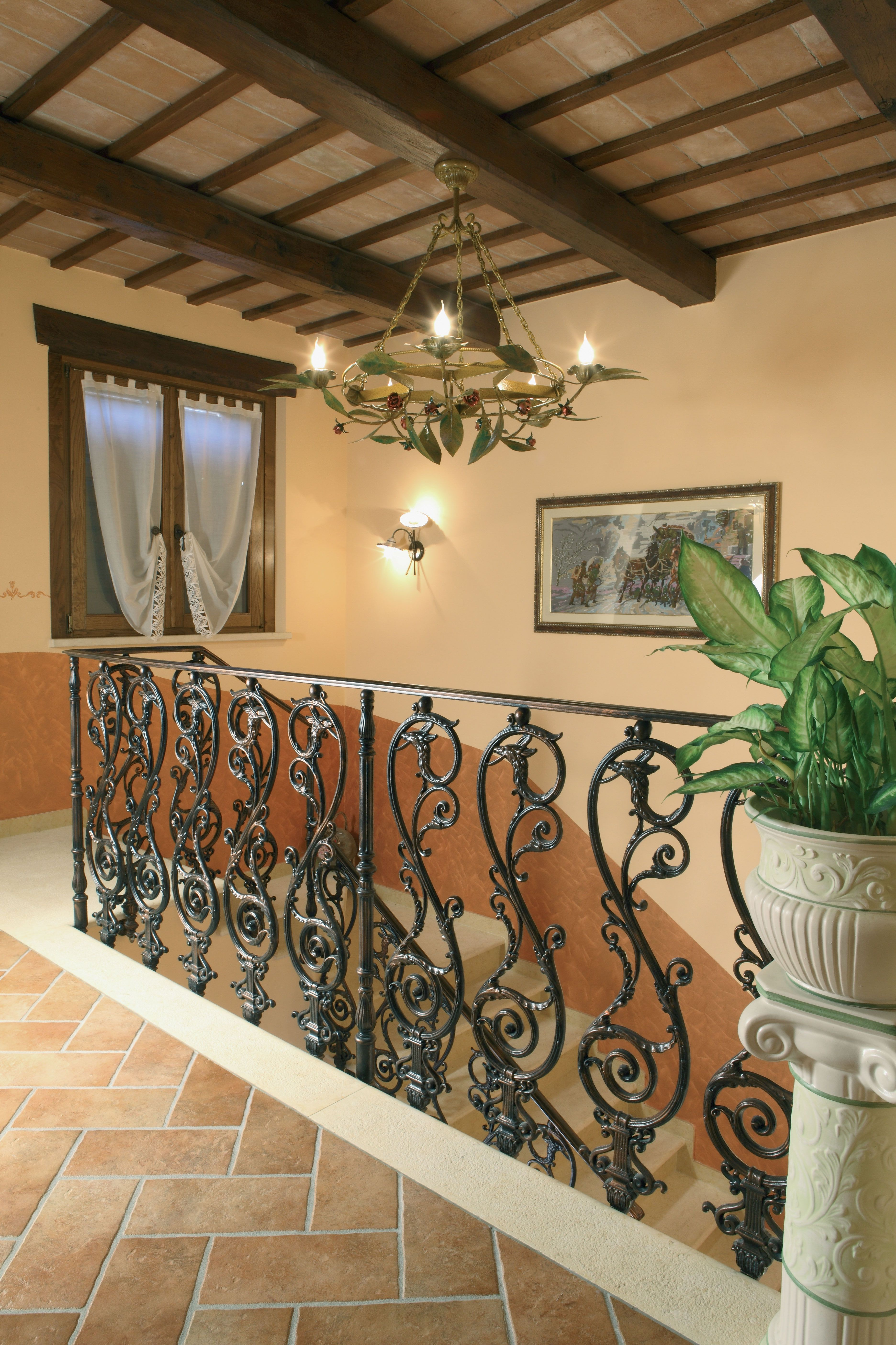 Cast-iron railings –  9502.0544VS http://www.modus.sm/en/products/railings/cast-iron-railings/9502-0544vsls/9502-0544vs.asp?ID0=1291&ID0_=1291&ID1=1312&ID1_=1312&ID2=1339&ID2_=1339&ID3=1655&ID3_=1655&IDProdotto=1344&L=EN  #Modus #ModusRailings #indoorfurniture #inspiration #castiron #railing #castironrailing #ghisa #ringhiera #ringhierainghisa #floraldecoration #grey #balconies #design #architecture #follow
