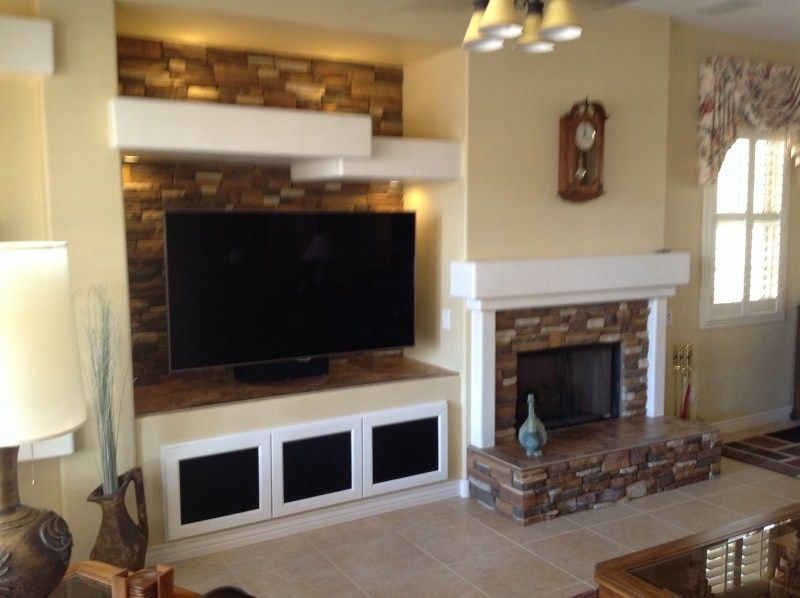 TWD Gave This Fireplace A Face Lift Adding Stone Seat And Mantle Along Wall IdeasRoom