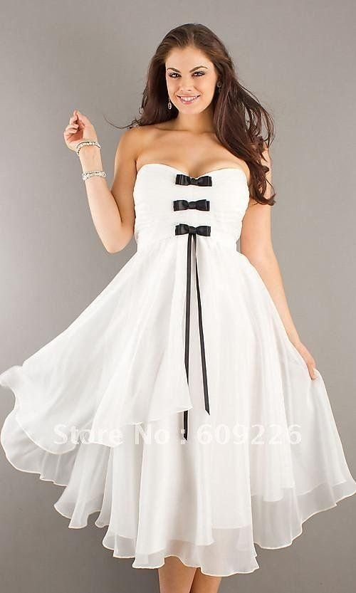d4b4531828a56 white and black short wedding dresses plus size