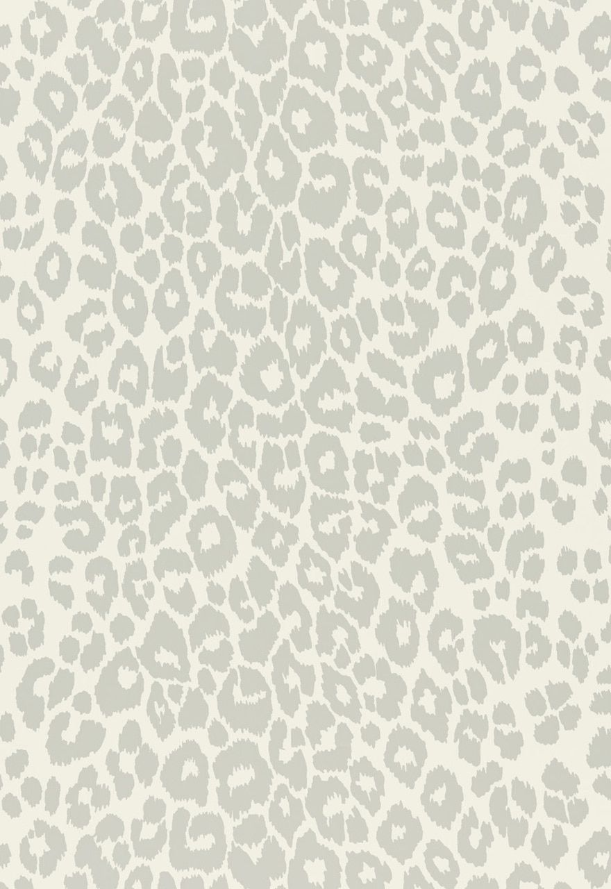 Schumacher Iconic Leopard Wallcovering In Graphite 5007012