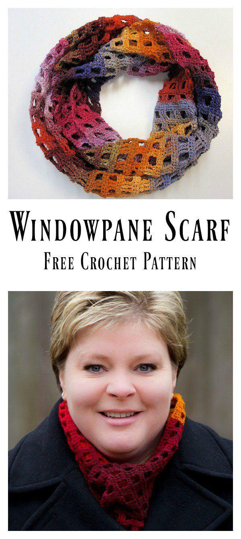 Windowpane Scarf Free Crochet Pattern | CRAFTS | Pinterest ...