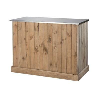 Top Zinc Pour Comptoir 119x59cm Tiroir Construire Un Bar Comptoir