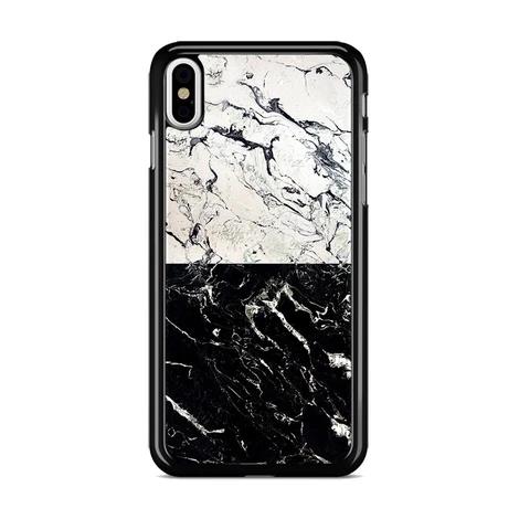 Cracked White X Black Marble Split Iphone Xs Max Case Miloscase