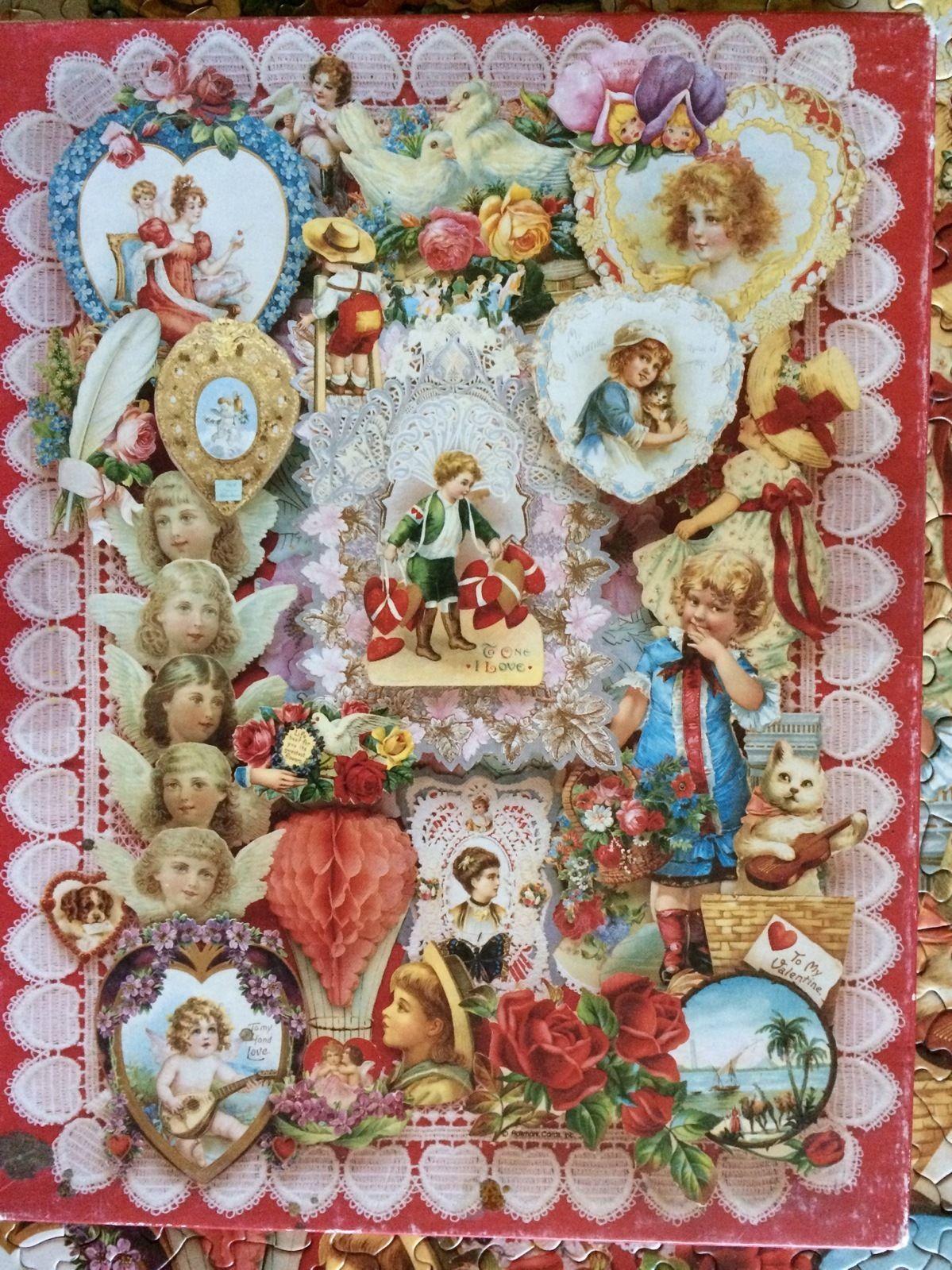 VICTORIAN VALENTINES vintage Springbok puzzle | Springbok
