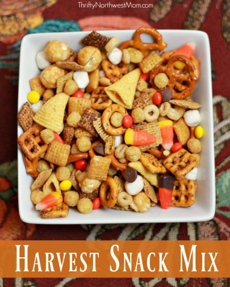 Harvest Snack Mix Fun Fall Party Snack + More Party