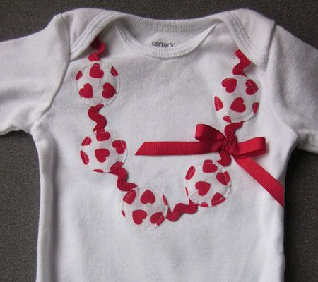 bb35b6f76b93 12 Adorable DIY and Handmade Valentine s Day Bodysuits For Baby ...