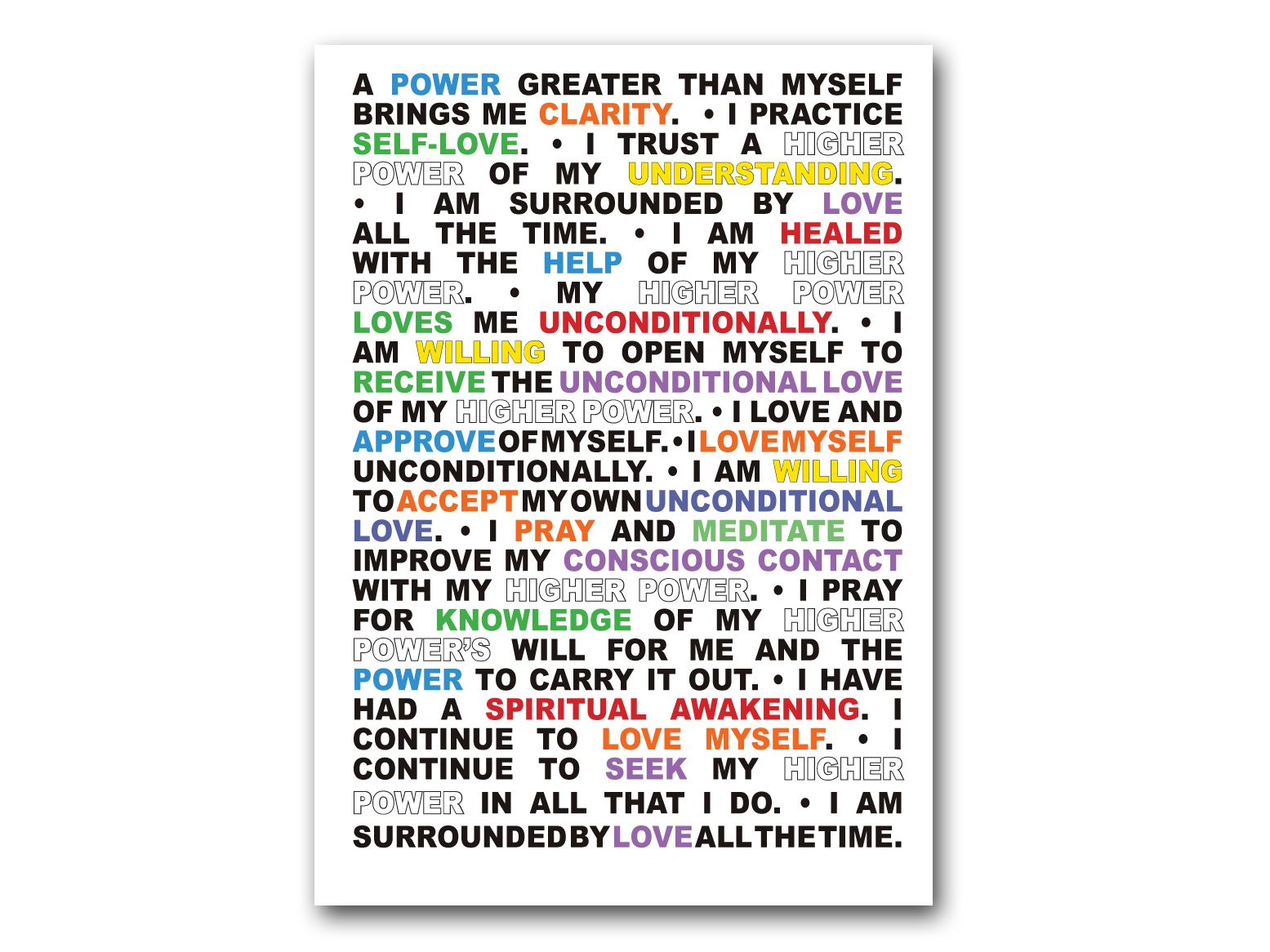 12 Step Recovery Affirmation Greeting Cards Alcoholics