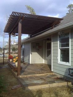 Pergola Installed Above Roof Line Google Search