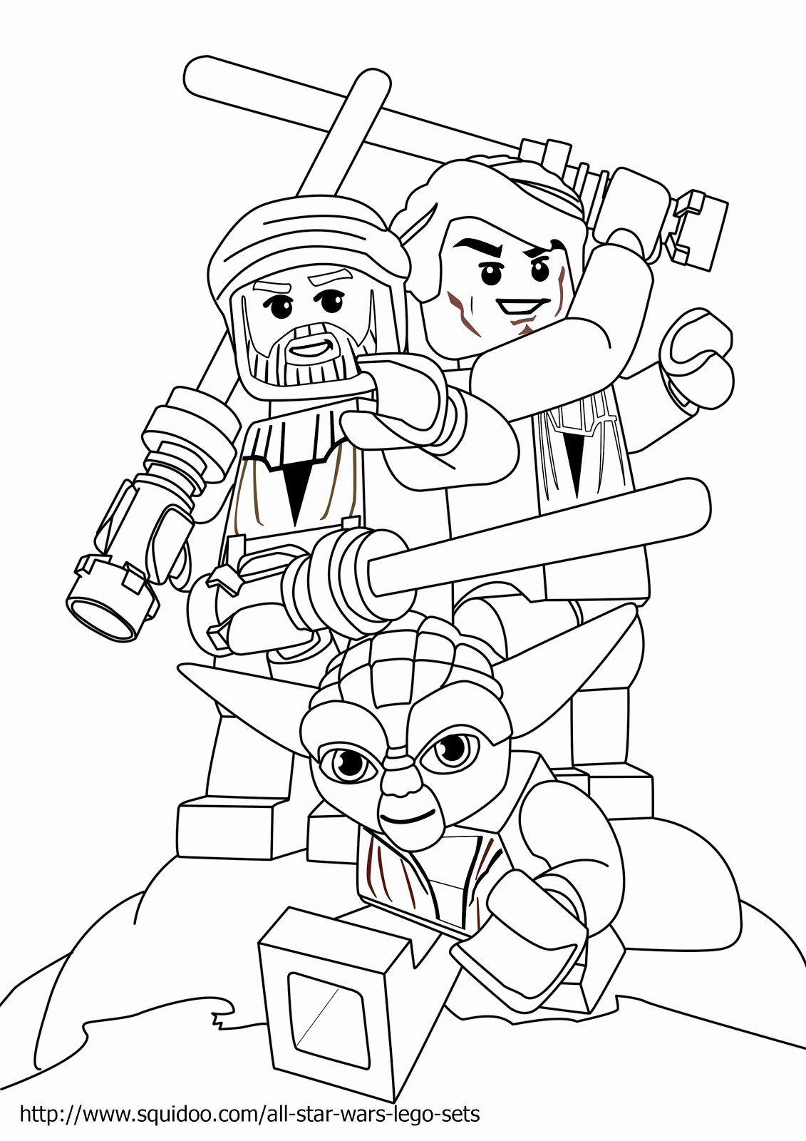 Coloring Page Star Wars Lovely Lego Star Wars Luke