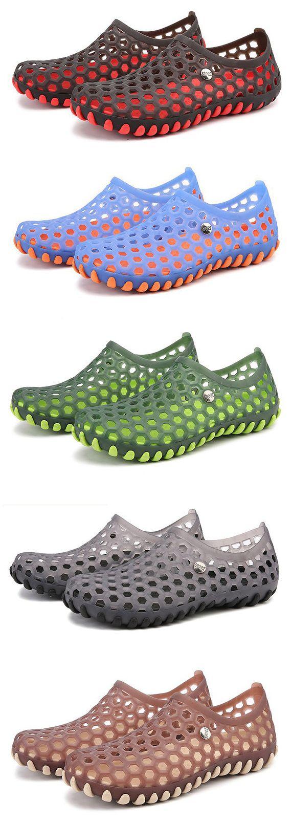 Women's sandals with removable insoles - Men Soft Massage Removable Insole Beach Sandals Casual Water Shoes